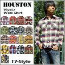 【即納】HOUSTON(ヒューストン) VIYELLA WORK SHIRT[40108] ネルシャツ ビエラ チェックシャツ 長袖シャツ メンズ レディース 15【smtb-kd】【RCP】