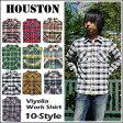 【即納】HOUSTON(ヒューストン) VIYELLA WORK SHIRT[40120] ネルシャツ ビエラ チェックシャツ 長袖シャツ メンズ レディース 15【smtb-kd】【RCP】
