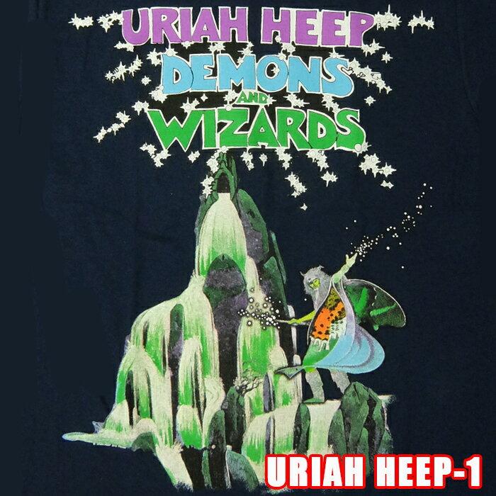 ROCK TEE URIAH HEEP-1[ユーライア・ヒープ] @Navy DEMONS AND WIZARDS メール便送料無料 ロックTシャツ/バンドTシャツ 【smtb-kd】【RCP】英国/米国のオフィシャルライセンス