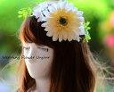 花冠 ホワイトガーベラ ヘッドドレス 1