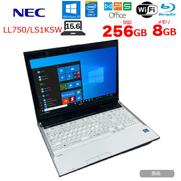 パソコン, ノートPC NEC LAVIE LL750LS1KSW Office Win10 home 3 Core i7 3630QM 8GB SSD256GB BD 15.6