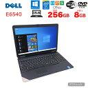 【中古】DELL E6540 ノートパソコン Office Win10 第4世代 テンキー [core i5 4210U 2.6Ghz メモリ8GB SSD256GB 無線 ROM 15.6型 ] :アウトレット - 中古パソコン販売のワットファン