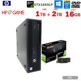 【中古】HP i7 Game Series ハイブリッド ゲーミングパソコン eスポーツ GTX 1650LP 4GB搭載 Win10 Office 第4世代 [core i7 4770 3.4GHz 16G HDD2TB+SSD1TB マルチ ]