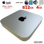 【中古】APPLEMacminiLate2012A1347MD387J/A小型デスクトップMacOSCatalina[Corei53210U2.5GHzSSD512GB4GB無線BTOS10.15.7]:良品