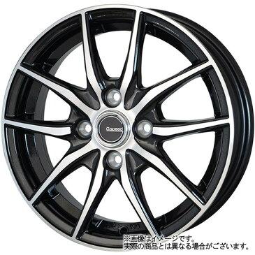 13インチ サマータイヤ セット【適応車種:MRワゴン(MF21S)】HOT STUFF Gスピード P02 メタリックブラックポリッシュ 4.0Jx13Bluearth AE−01 155/65R13
