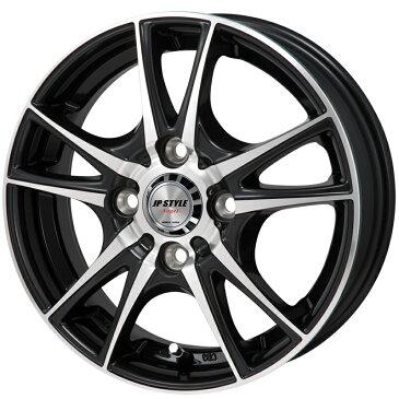 14インチ サマータイヤ セット【適応車種:ekワゴン(H82W 14インチ装着車)】MONZA JAPAN JPスタイル ヴォーゲル ブラックメタリックポリッシュ 4.5Jx14エナセーブ EC202L 165/55R14