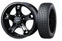 16インチ スタッドレスタイヤ ホイールセット【適応車種:デリカD:5(CV系 4WD)】WEDS冬 キーラー フォース 5/114 グロスブラック 7.0Jx16WINTER MAXX WM02 215/70R16