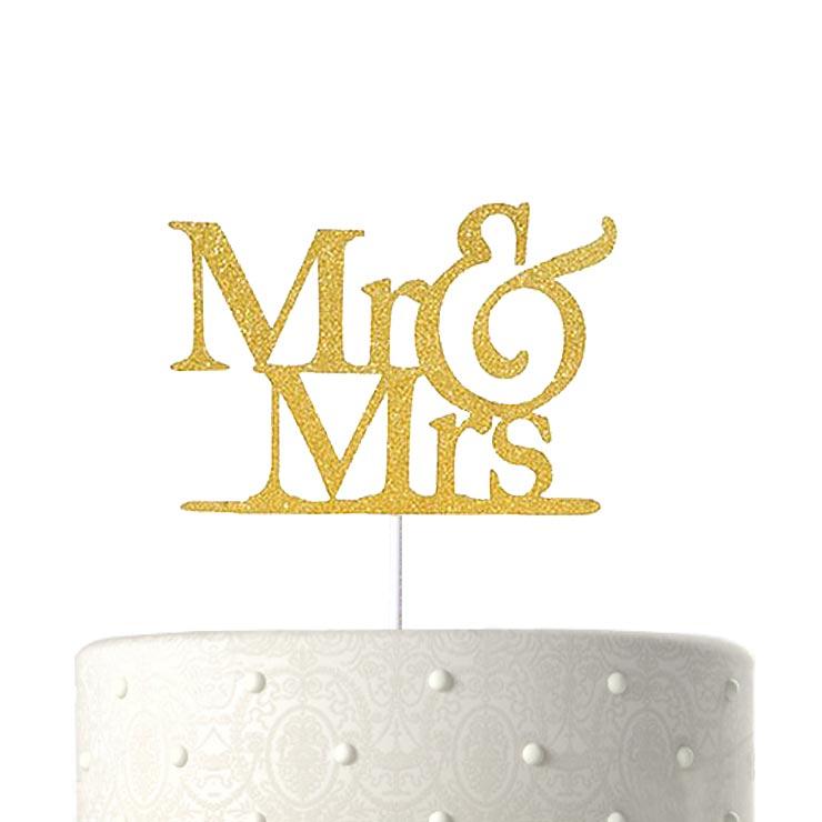 ケーキ 飾り デコレーション 結婚式 MR & MRS ケーキトッパー ウェディング パーティー【送料無料】