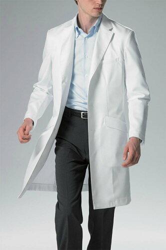 FD-4000 ハイクラスドクターコート シングル Y体 白衣 男性用 メンズ 診察衣