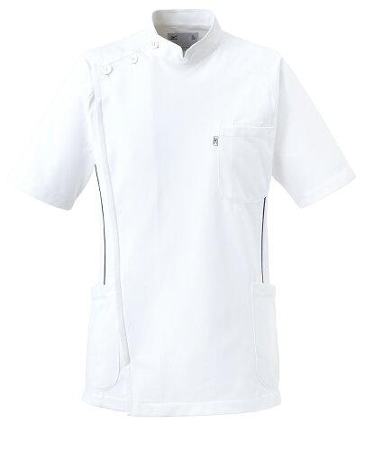 白衣 メンズケーシージャケット MZ-0049 半袖上衣 KC