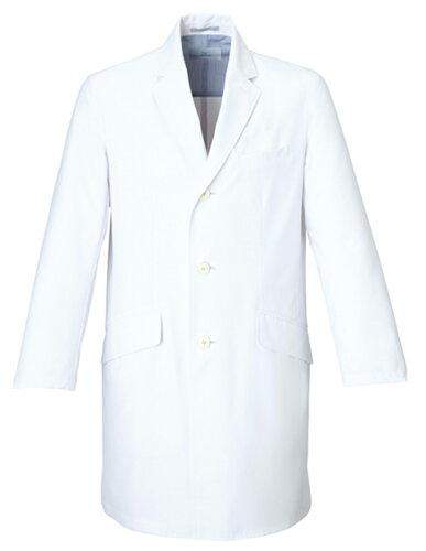 白衣MZ-0025 メンズドクターコート 男性白衣 長袖 Dynamotion Fit