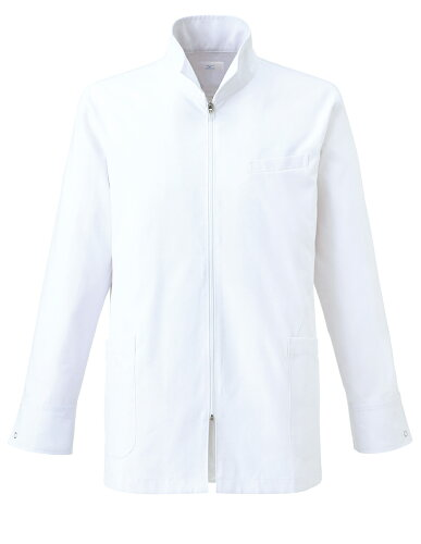 白衣 メンズドクターハーフコート 診察衣 長袖 MZ-0056