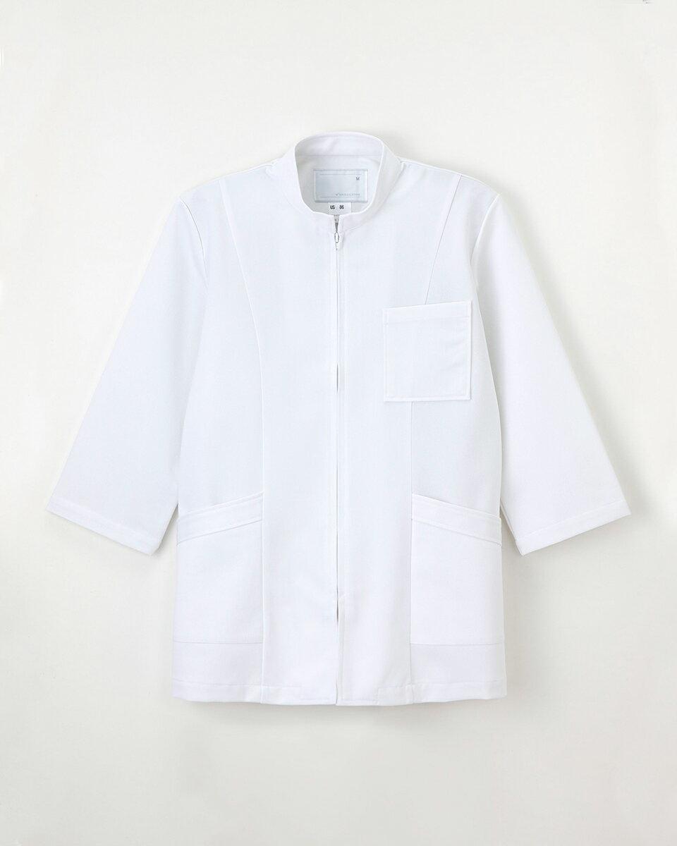 【ナガイレーベン】US-86【白衣 男子KC ケーシー 8分袖】