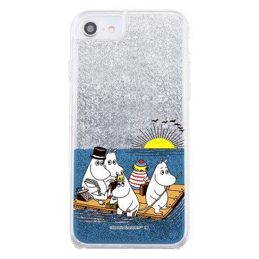iPhone SE2 ケース ムーミン ラメ グリッターケース / ムーミン達と海 iphone8 iphone7 6s 6 カバー キラキラ グリッター アイフォンse2 第2世代