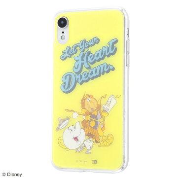 iphone xr ケース ディズニー プリンセス キャラクター TPUケース+背面パネル 美女と野獣 /夢を教えて