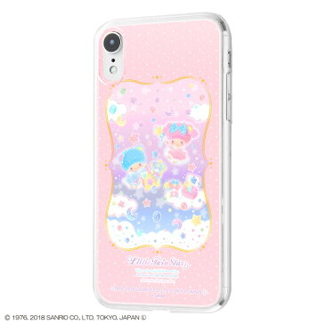 iPhone XR ケース キキララ リトルツインスターズ サンリオ TPUケース+背面パネル 宝石箱 アイフォンxr カバー