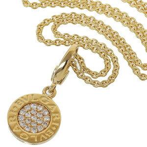 (Bvlgari) BVLGARI BB Pave Diamond Necklace K18YG Charm Box Gala [Used]