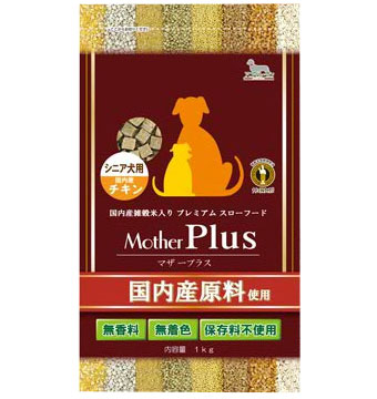 【3kg 1kg×3袋】【通販ドッグフード】<マザープラス>ドライフード  国産 アニマルワン チキン・シニア 高齢犬用【正規品】