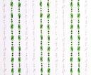 在庫わずか★ビーズ のれん カーテン【85x150cm】デッドストック品の為、超特価!!アウトレット インスタ映え レトロ かわいい ★キズ汚れ多少ありレトロかわいいビーズのれんツイストエメラルドグリーン&クリア【※一回の注文で合わせて4個まで。】【インテリア】