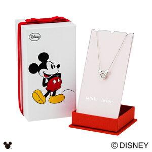 【whiteclover/DisneySeries】ディズニー/ミッキー/スウィングストーンキュービックジルコニアsilver925ネックレス/シルバー&オリジナルBOX付DISS003RD
