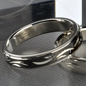 手彫りダイヤモンド4mmペアリング/SILVER&BLACKWSR227SV&WSR227RT/刻印無料送料無料ラッピング無料代引き手数料無料
