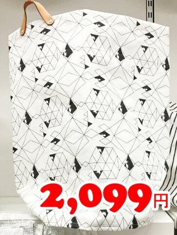 5の倍数日は楽天カードエントリーで5倍/【IKEA】イケア通販【PLUMSA】ランドリーバッグ(ホワイト×ブラック)60L