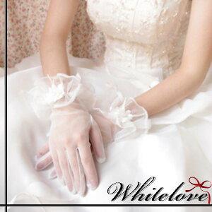58d52de2ece58c ウエディンググローブ 2色 ショート グローブ ウェディンググローブ シースルー フラワー ブライダル パーティー ウェディング ウエディング 小物  衣装 手袋 結婚式 ...