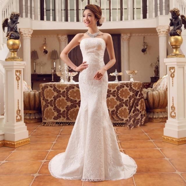 dcbe4fe47d315 ウェディングドレス マーメイドライン 花嫁 二次会 結婚式 披露宴 挙式 ドレス ウエディングドレス ロングドレス ロング