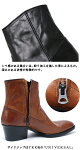 【MadeinJapan】【whoop'-de-doo'フープディドゥ】ウエスタンサイドジップヒールブーツ105292