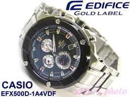 CASIOエディフィスゴールドラベル(EFX500D-1A4VDF)■日本未発売!高性能ハイスペックモデル!
