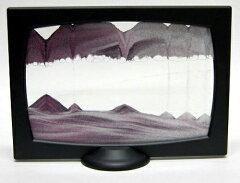 砂が創り出す神秘の芸術!サンドピクチャー スタンドタイプ スクリーニ(チャコール)