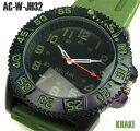 ミリタリー・ビッグフェイス腕時計【カーキ】(AC-W-JH32-KH)