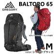 【送料無料】GREGORY(グレゴリー)BALTORO65(シャドーブラック)M