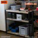 【送料無料・代引き不可】DOPPELGANGER ワンオフDIYスチールラック DDS554-BK/ブラック