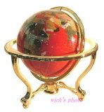 宝石用原石から作られた地球儀(レッド)【smtb-s】宝石地球儀直径33cm