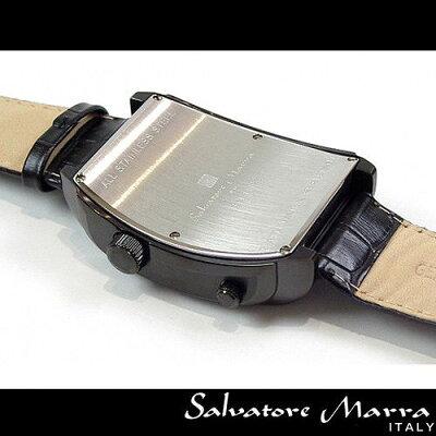 SalvatoreMarra(サルバトーレ・マーラ)デュアルタイム&マルチカレンダーメンズ腕時計AC-W-SM11123-IPBKBK