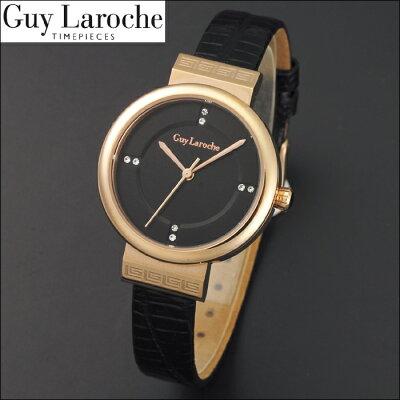 送料無料ギ・ラロッシュGuyLaroche(ギラロッシュ)クオーツレディース腕時計L5004-03女性用電池式MEN'Sレザー革ベルトうでどけいウォッチ国内正規品女性ギフトプレゼントクリスマス