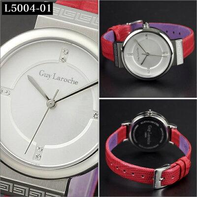 送料無料ギ・ラロッシュGuyLaroche(ギラロッシュ)クオーツレディース腕時計L5004-01L5004-02女性用電池式レザー革ベルトうでどけいウォッチ国内正規品女性ギフトプレゼント雑誌クリスマス