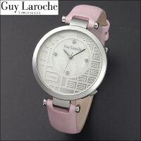 送料無料ギ・ラロッシュGuyLaroche(ギラロッシュ)クオーツレディース腕時計L5005-01女性用電池式レザー革ベルトピンクうでどけいウォッチ国内正規品女性ギフトプレゼントスワロフスキー