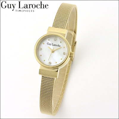送料無料ギ・ラロッシュGuyLaroche(ギラロッシュ)クオーツレディース腕時計L5009-04女性用電池式ステンレスメッシュベルトトうでどけいウォッチ国内正規品女性ギフトプレゼントスワロフスキークリスマス