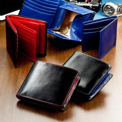 財布メンズ二つ折り財布イタリアンレザー本革牛革二つ折り財布多機能財布お財布box型小銭入れ収納カード大容量カードケース二つ折り財布メンズメンズ財布小銭入れ付き札入れサイフさいふ男性多機能