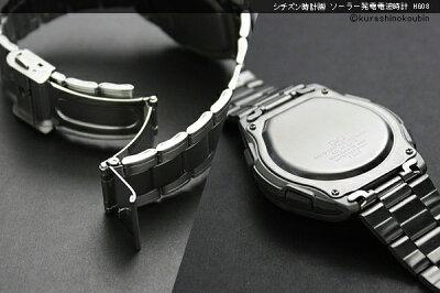 腕時計メンズ電波ソーラー腕時計シチズン薄型ソーラー発電電波時計【暮らしの幸便新聞掲載商品6241962419-162419-2】電波ソーラーソーラー電波電波時計ホワイトブラックHG08-202HG08-204HG08-205men'sうでどけい