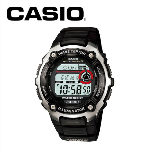 カシオ CASIO 電波腕時計 WV-M200-1AJF ランニングウォッチ スポーツウォッチ マルチバンド5 MULTI...