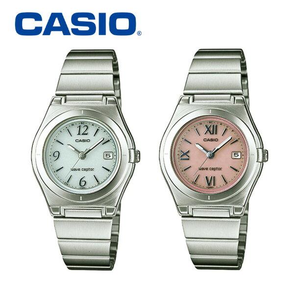 500円OFFクーポン対象   カシオCASIO腕時計レディースソーラー電波電波ソーラーウォッチかわいい薄型電波腕時計ブラン