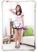 5400(4点)メイド服*リボンカチューシャ付ピンクのスーツコスプレ 05P03Dec16