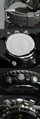 FRUHアナデジ多機能クロノグラフウォッチ腕時計時計ウォッチFRUHアナログデジタルアナデジクロノグラフ防水アラームクオーツ日付曜日バックライトデュアルタイムビッグフェイス男性メンズケース