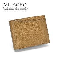 Milagro男のゴールド二つ折り財布HK-G-501