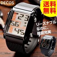 送料無料デジタルウォッチ腕時計メンズレディースデジタルウォッチDECOSウォッチユニセックス男性用女性用うでとけいブランド人気おしゃれシンプルプレゼントギフトおすすめかっこいい紳士用