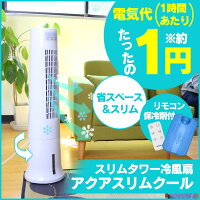 スリムタワー冷風扇アクアスリムクール【新聞掲載】
