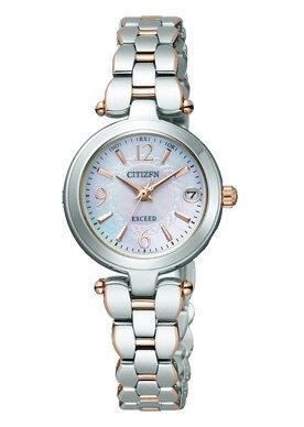 シチズンエクシードエコ・ドライブ電波時計女性用ES8024-51W